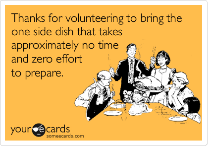 thanksgiving side dishes funny meme