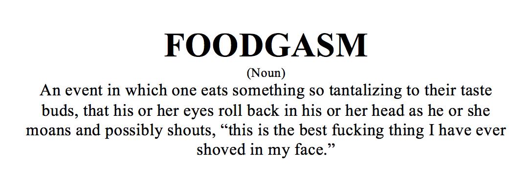 Foodgasm Definition